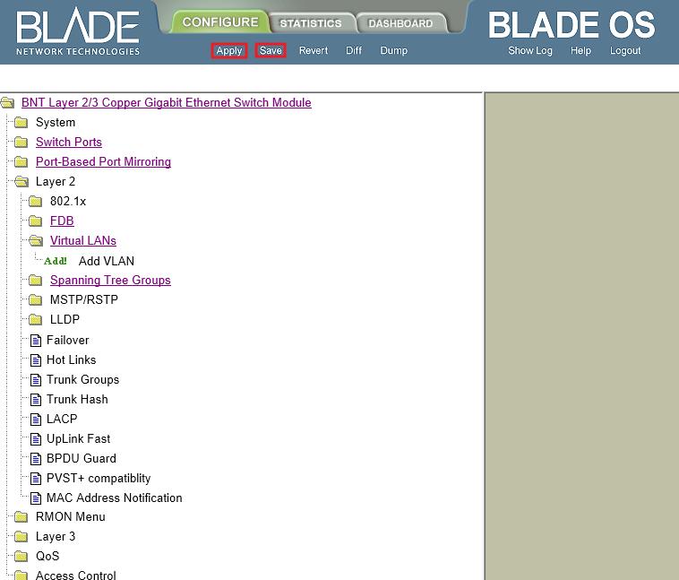 IBM Blade center: Management Network State Down