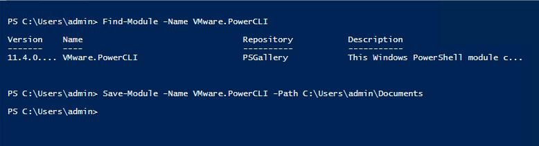 Powershell установка модулей